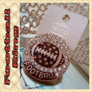 NEW Football Ring One Size Stretch Gold Fashion